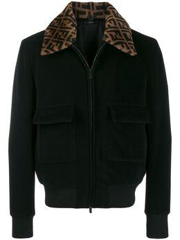 Fendi куртка-бомбер с узором FF на воротнике FW0123A9C7