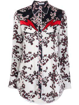 Paco Rabanne рубашка с цветочным принтом и вставками 20PCCE019P00208