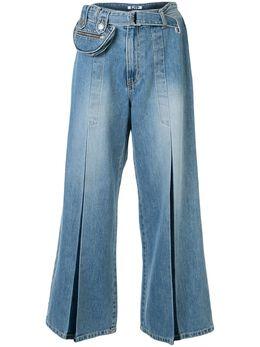 Sjyp джинсы широкого кроя с поясом PW2A1NPC079W