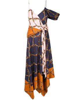 Jonathan Simkhai платье асимметричного кроя с принтом 1201133W