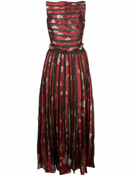 Oscar De La Renta плиссированное платье с цветочным принтом 20RN053BFTRDM