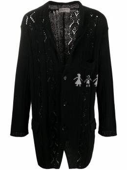 Yohji Yamamoto длинный вязаный кардиган HNK73095