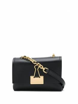 Off-White сумка на плечо Binder Clip среднего размера OWNA120S20LEA0011000