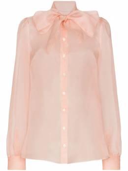 Dolce&Gabbana блузка с бантом F5L66TFU1AB