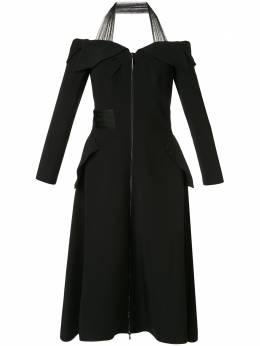 Maticevski платье с открытыми плечами и вырезом халтер DR443118