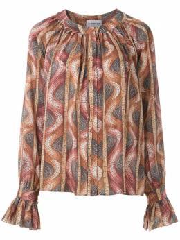 Olympiah блузка с узором и оборками 219312E