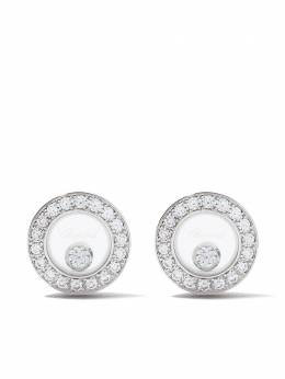 Chopard серьги-гвоздики Happy Diamonds Icons из белого золота 83A0171201