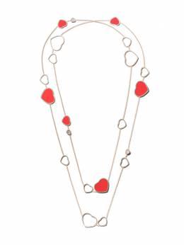 Chopard колье 'Happy Hearts' с красными камнями и бриллиантами 8174825801