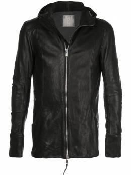 Guidi куртка узкого кроя с капюшоном CBMSOFTHORSEFGBLKT