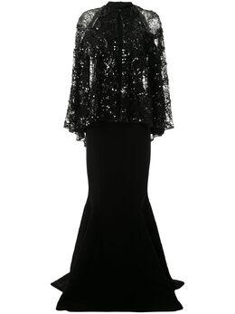 Saiid Kobeisy платье с открытыми плечами и пайетками RSRT2052