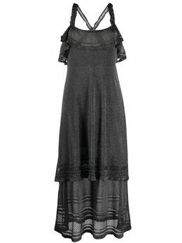 M Missoni платье миди с оборками и эффектом металлик 2DG003892K005H