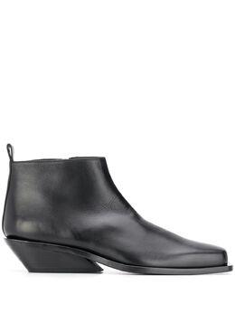 Ann Demeulemeester ботинки на скошенном каблуке 19024202AA363