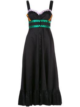 Cynthia Rowley платье миди Melita с фестонами 20R1DR06CO