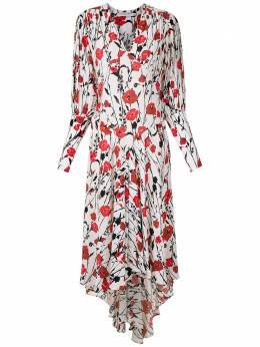 Reinaldo Lourenco платье миди с цветочным принтом 23111548