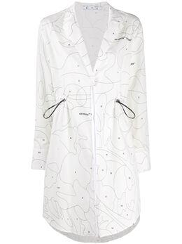 Off-White платье с кулиской OWDB217S20FAB0020110