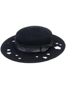 Maison Michel шляпа 'Kiki' с блестками и вырезными деталями 1062019001
