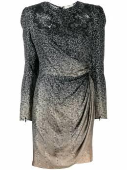 Fendi платье мини с драпировкой FDA532A8E8