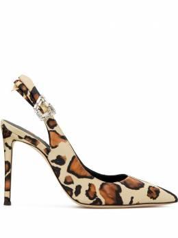 Giuseppe Zanotti Design туфли с леопардовым принтом и декорированной пряжкой E050005003