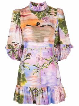 Cynthia Rowley платье мини Catalina с оборками 20R1DR18SK
