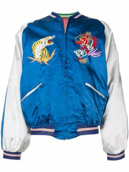Fake Alpha Vintage 1950s embroidered animals bomber jacket SO0020