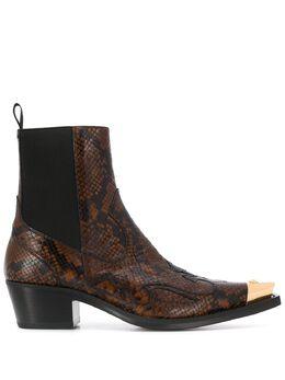 Versace python-effect cowboy ankle boots DSU7864DVT1SPC
