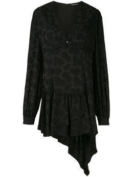 Wandering платье мини с цветочным принтом и драпировкой WGW19403