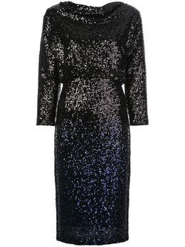 Badgley Mischka платье миди с пайетками SC2440