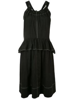 Goen.J платье с баской GJ20SSDS05