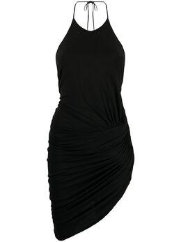 Alexandre Vauthier платье со сборками и вырезом халтер 202DR1278