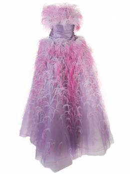 Marchesa вечернее платье без бретелей M27831