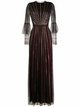 Temperley London расклешенное вечернее платье с бисером 20SQUE53349Z