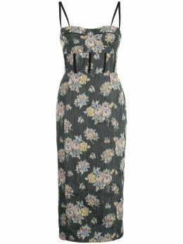 Brock Collection платье с цветочным принтом BRPQ504000