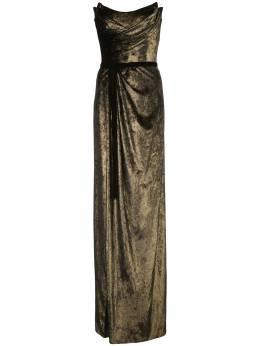 Marchesa Notte вечернее платье с эффектом металлик N35G1107