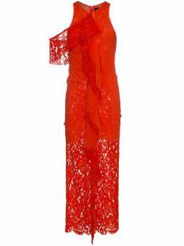 Proenza Schouler приталенное кружевное платье без рукавов R182305FC005