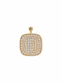 Marla Aaron золотая подвеска с бриллиантами и ониксом LCYG2602W