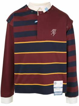 Maison Mihara Yasuhiro рубашка-поло в полоску A04PO572