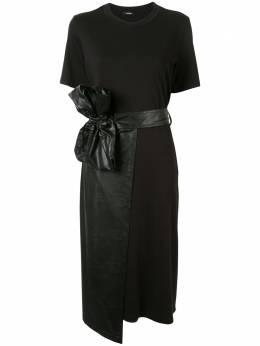 Goen.J платье из искусственной кожи и запахом GJ20SSDS12