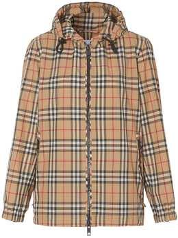 Burberry куртка в клетку Vintage Check с капюшоном 8025678