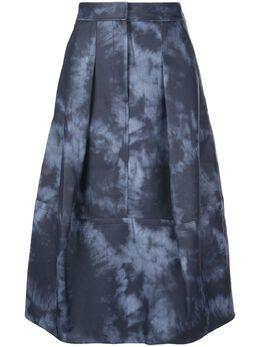 Tibi юбка с принтом тай-дай S120RD5185