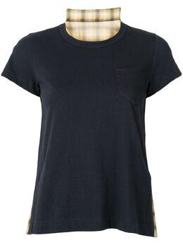Sacai укороченная футболка 2004872