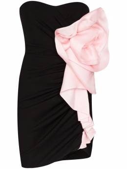 Alexandre Vauthier платье мини с цветочным декором 202DR126401941150