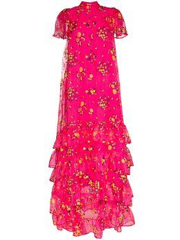 Erdem вечернее платье Aurelia из тюля с цветочным принтом SS2021354PFEO