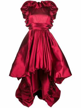 Zuhair Murad атласное вечернее платье DRF20356
