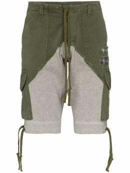 Greg Lauren шорты карго со вставками SS20M224