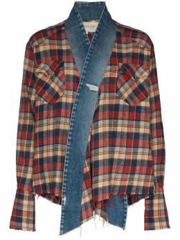 Greg Lauren фланелевая куртка с контрастной вставкой SS20M126