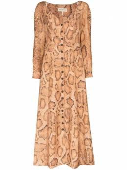 Mara Hoffman платье мини Silvana со змеиным принтом W012211840