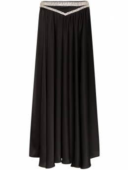 Paco Rabanne юбка макси со стразами 20PCJU099PO0180
