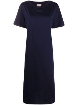 Moncler платье-футболка с контрастной вставкой 8I70800V8102