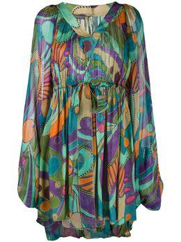 Alberta Ferretti платье мини с геометричным принтом A04020146