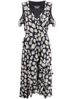 Boutique Moschino платье с оборками и цветочным принтом A04730850